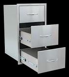 #304 Stainless Steel 3 Drawer Storage