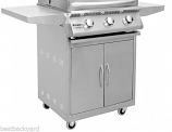 "26"" Sizzler Stainless Steel Gas Grill Cart - Cart Only"