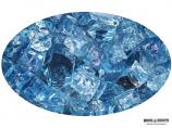 "Boone Hearth 10 LB Bag of 1/4"" Blue Lagoon Reflective Fire Glass"