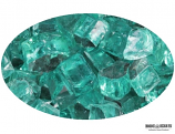 "Boone Hearth 10 LB Bag of 1/4"" Caribbean Blue Reflective Fire Glass"