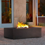 Real Flame Baltic Rectangle Fire Table in Kodiak Brown