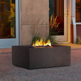 Real Flame Baltic Square Fire Table in Kodiak Brown