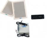 AM/FM/CD Player & 2 Premium Speakers w/ Amp