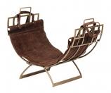 Arts & Craft Log Holder W/ Suede Carrier