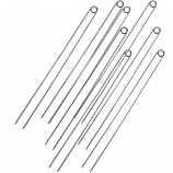 Double-Prong Easy-Flip Hot Dog Skewers Stainless Steel Set of 8