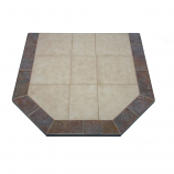 "NY Hearth Autumn Eve 18"" x 48"" Two-Toned Hearth Pad (Octagon)"
