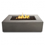 Real Flame Baltic Rectangle Natural Gas Fire Table in Glacier Gray