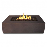 Real Flame Baltic Rectangle Natural Gas Fire Table in Kodiak Brown
