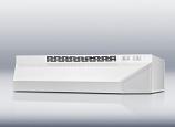 Convertible range hood 24 inch wide white finish