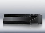Convertible range hood 30 inch wide black finish