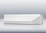 """24"""" wide shell hood in white"""