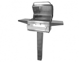 Legacy 22SC01CG6 In-Ground Post Charcoal Grill with Smoker Oven/Hood