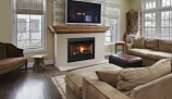 "Superior 45"" RNC Millivolt Top/Rear Vent Fireplace w/Aged Oak Logs-LP"