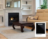 "Superior 32"" BRT B-Vent Electric Fireplace with White Brick Hearth-NG"