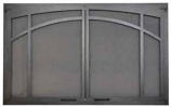 """Decorative Mesh Twin Pane Arched Screen Door for 36"""" Fireplace"""