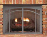 """Superior ASD4228-TI Textured Iron Arched Screen Door for 42"""" Fireplace"""