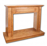 "Superior W26TO 26"" Traditional Light Oak Wall Cabinet Mantle"