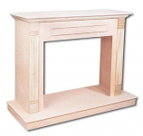 "Superior W32TU 32"" Traditional Unfinished Oak Wall Cabinet Mantle"