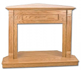 "Superior C32TO 32"" Traditional Light Oak Stain Corner Cabinet Mantle"