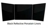 Superior PLZ42 Black Porcelain Liner for Vent-Free Firebox