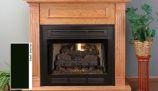 "Superior VCT3042B 42"" Vent-Free Louver Face Black Interior Firebox"