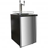 Double Kegorator Twin Tap Beer Keg Fridge- Stainless Steel