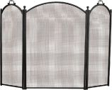 Black 3 Fold Arched Screen - 34 x 52 inch