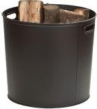 Black Steel Log Bucket - 16 inch