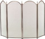 Antique Brass 4 Fold Arched Screen - 32.5 inch