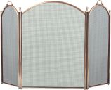 Antique Brass 3 Fold Arched Screen - 29 inch
