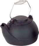 Black Cast Iron 5 Quart Humidifier with Chrome Handle - 7 inch
