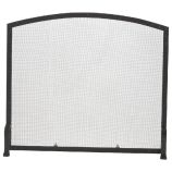 AHS120 Black Rivet Design Wrought Iron Arched Panel Screen - 34 inch