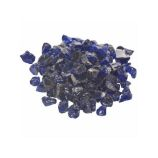 10 Lb. Bag Of Dark Blue Fire Glass - 0.5 To 0.75 Inch
