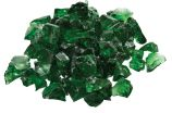 10 Lb. Bag Of Dark Green Fire Glass - 0.5 To 0.75 Inch