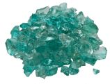10 Lb. Bag Of Jade Fire Glass - 0.5 To 0.75 Inch