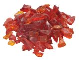 10 Lb. Bag Of Orange Fire Glass - 0.5 To 0.75 Inch