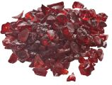10 Lb. Bag Of Red Fire Glass - 0.5 To 0.75 Inch