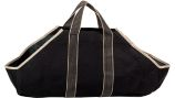 Black Canvas Tote Carrier with Tan Handles - 18 inch