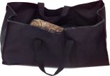Black Canvas Tote Log Carrier - 11.5 inch