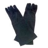 Black Pair of Suede Elbow Length Glove - 18 inch