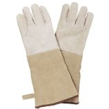 Brown Pair of Suede Glove - 16 inch