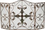 Antique Copper/Patina 3 Fold Arched Panel Screen - 31.5 inch