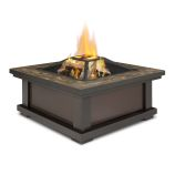 Alderwood Wood Burning Fire Pit, Black