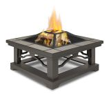 Crestone Wood Burning Fire Pit, Grey Tile