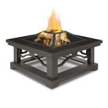 Crestone Wood Burning Fire Pit, Brown Tile