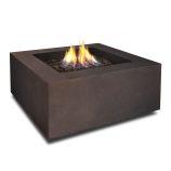 Baltic Natural Gas Square Fire Table, Kodiak Brown