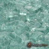 """1 Pound Bag of 1/2"""" Emerald Green Fireglass"""