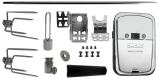 Hexagon Rotisserie Spit Kit with Chrome Rotisserie Motor - 37 inch
