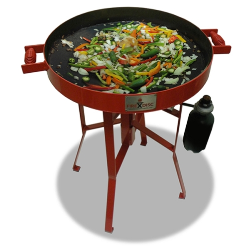 Fire Disc Mini 22 inch Red Grill with Heat Ring