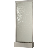 10' Stainless Steel Grande with Clear Glass Fountain